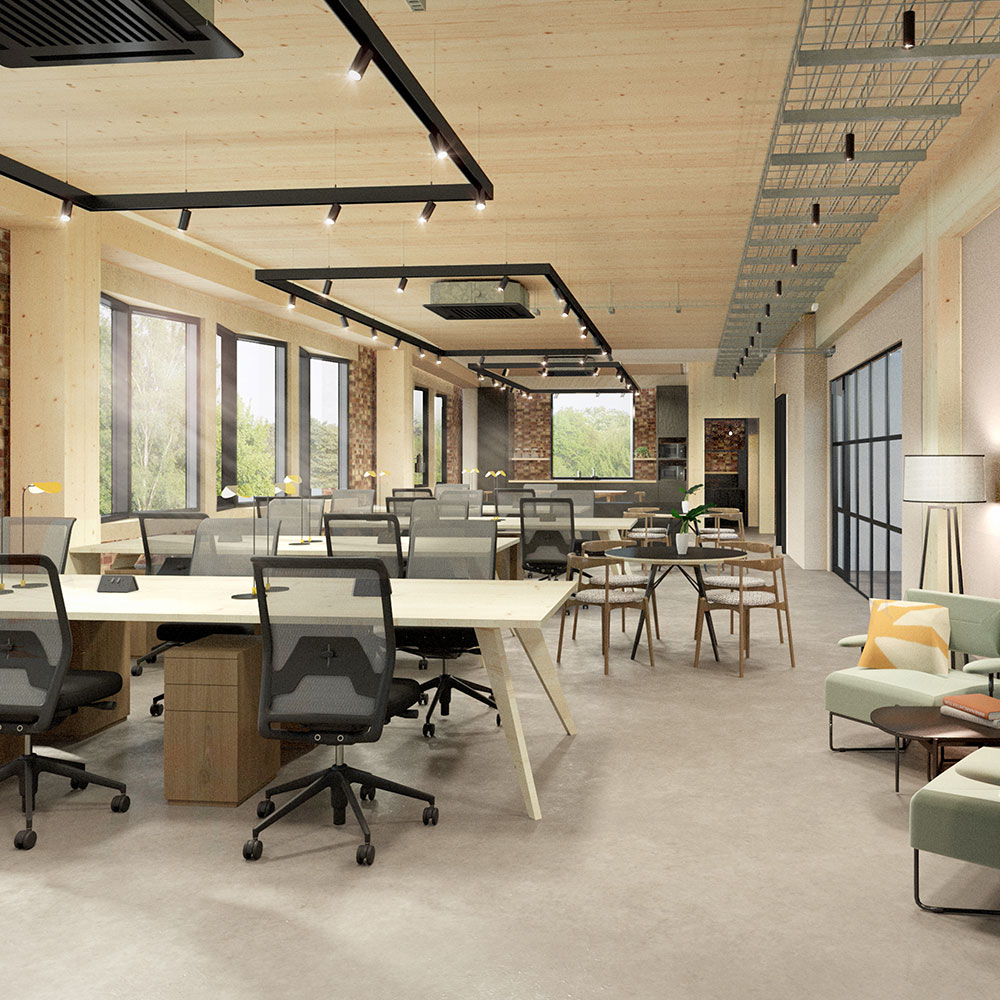 Open Plan Co-working Space